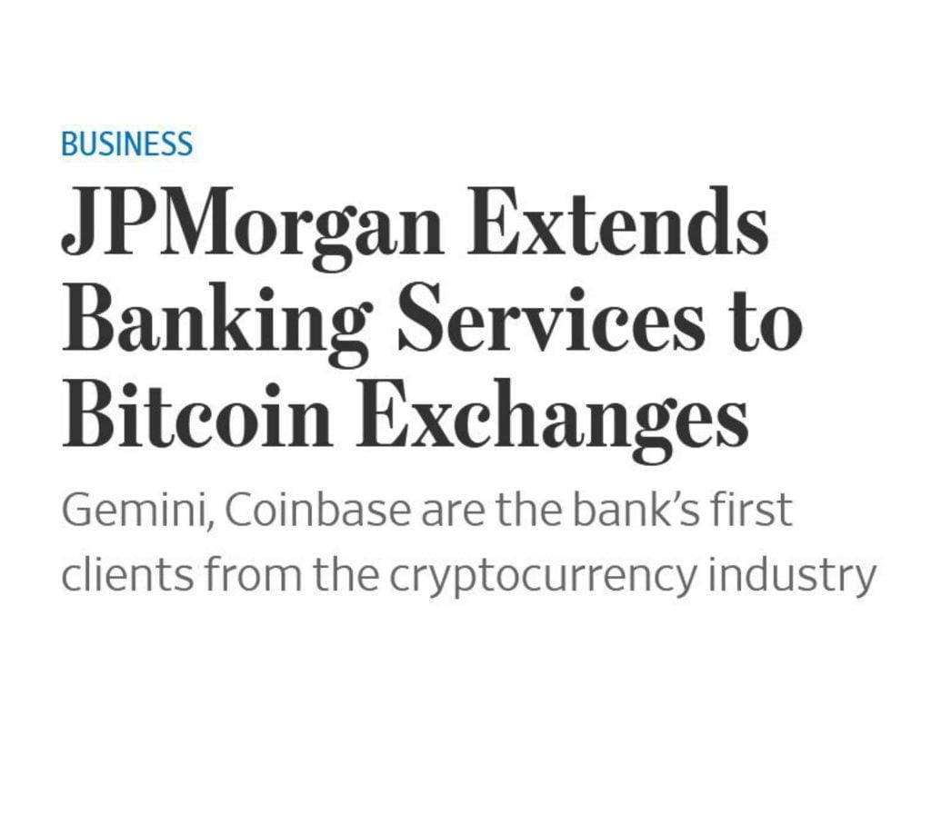 JPMorgan wil zaken doen met Coinbase