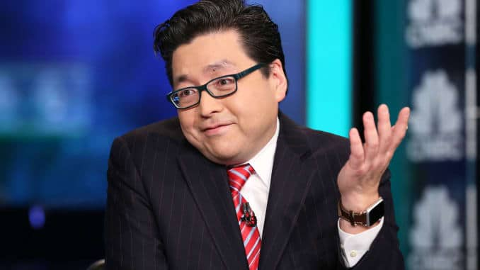 Tom Lee bitcoin koers verwachting