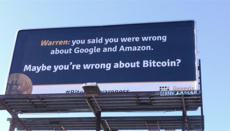 Warren Buffett over bitcoin