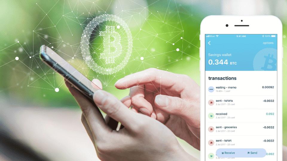 Bluewallet is een app om je cryptomunten in te bewaren